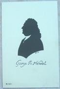 LITHO  Illustrateur  W.B.  W. BITHORN PORTRAIT Silhouette OMBRE Profil Homme Musicien Compositeur GEORGE HANDEL - Silhouettes