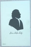 LITHO  Illustrateur  W.B.  W. BITHORN PORTRAIT Silhouette OMBRE Profil Homme Musicien Compositeur JOHAN SEBASTIAN BACH - Silhouettes