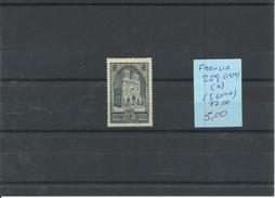 FRANCIA  YVERT 259  (*) (SIN GOMA) - France