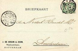 1900 Bk Met Firmalogo J. De4 Bruijn & Zoon - Rotterdam - Poststempels/ Marcofilie
