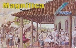 TARJETA DE BOLIVIA DE COTAS DE EL TRAPICHE (PINTURA-PAINTING) (MAGNIFICA)