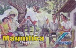 TARJETA DE BOLIVIA DE COTAS DE EL TRAGO PATRON (PINTURA-PAINTING) (MAGNIFICA)