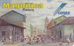TARJETA DE BOLIVIA DE COTAS DE EL CARNAVAL (PINTURA-PAINTING) (MAGNIFICA)