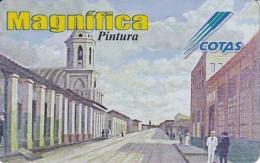 TARJETA DE BOLIVIA DE COTAS DE EL BARRIO LA MERCED (PINTURA-PAINTING) (MAGNIFICA)
