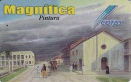 TARJETA DE BOLIVIA DE COTAS DE SE VINO EL SURAZO (PINTURA-PAINTING) (MAGNIFICA)