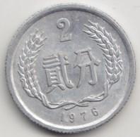 @Y@     China  2 Fen    1976  (3955) - China