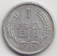 @Y@     China  1 Fen    1977    (3962) - China