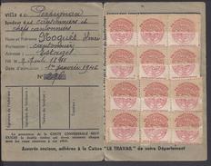 FR - 1946 - Carte C.G.T. Travaux Publics Et Transports - Syndicat Des Cantonniers - Estagel - P. Orientales - - Mappe