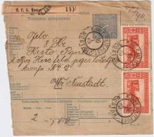 1909, 40 H. , 2 Werte A. Paketkarte , #6622 - Bosnien-Herzegowina