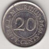 @Y@    Mauritius    20 Cents   1994      (3966) - Mauritius