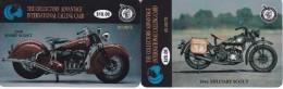 SERIE DE 2 TARJETAS DE ESTADOS UNIDOS DE MOTOS (MOTORBIKE) USA (SPORT AND MILITARY SCOUT) NUEVAS-MINT - Motos