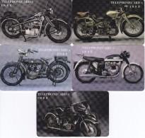 SERIE DE 5 TARJETAS DE ESTADOS UNIDOS DE MOTOS (MOTORBIKE) USA - Motos
