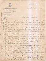 Lettre à En-tete Grand Café De France Vichy - Old Paper