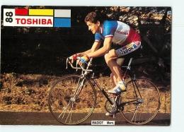 Marc MADIOT. 2 Scans. Cyclisme. Toshiba 1989 - Cycling