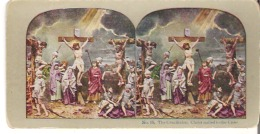 No.15. The Crucifixion. Christ Nailed To The Cross. Matthew XXVII : 50. - Stereoscope Cards