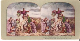 No. 16. The Morning After The Crucifixion. The Moving Of The Body Of Christ From The Cross. John XIX : 38. - Stereoscope Cards