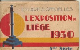 Liege Carnet 10 Cartes Complet Expo 1930 - Luik