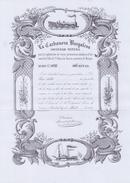 ESPAÑA/SPAIN :1854: Share Of ## La Carbonera Burgalesa ##:  TRANSPORT,STEAMBOAT,STEAM TRAIN,TOOLS,IMPLEMENTS, - Actions & Titres