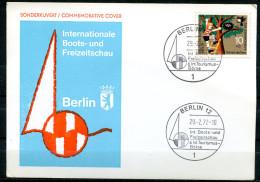 "Germany Berlin 1972 Sonderkarte Intern.Boots U.Freizeitaust.m.Mi.Nr.418 U.SST""Berlin-6.Int.Tourismus-Börse""1 Karte Used, - Factories & Industries"