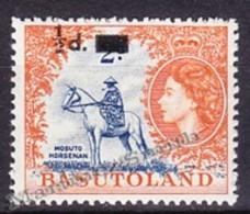 Basutoland - Basoutoland 1959 Yvert 57, Queen Elizabeth II Effigy - Overprint - MNH - Basutoland (1933-1966)