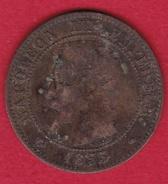 France 2 Centimes Napoléon III 1855 MA Ancre - France