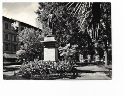 BOLOGNA PIAZZA E MONUMENTO A MINGHETTI  VIAGGIATA  FG - Bologna
