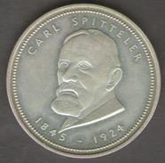 SVIZZERA BASEL LANDSCHARFT BALE CAMPAGNE 1501 CARL SPITTELER 1845 - 1924 AG SILVER - Gettoni E Medaglie
