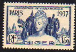 Niger N° 62  XX  Exposition Internationle De Paris : 1 F. 50 Bleu, Gomme Coloniale Sinon TB