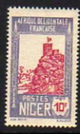 Niger N°51 XX  Série Courante : Forteresse De Zinder : 10 F., Gomme Coloniale, Sinon  TB