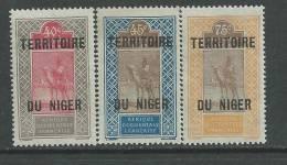 Niger N° 11 / 12 + 14 XX  Les 3 Valeurs Sans Charnière, TB