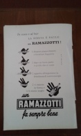 Advertising Pubblicità  AMARO RAMAZZOTI    1962 - Alcolici