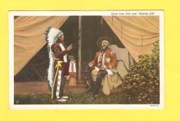 Postcard - USA, Chief Iron Tail And Buffalo Bill       (24186) - Otros