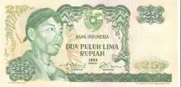 Indonesia - Pick 106 - 25 Rupiah 1968 - Unc - Indonésie