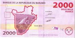 Burundi - Pick 52 - 2000 Francs 2015 - Unc - Burundi