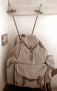 Alpinisme - Sac à Dos Ancien Vintage + Bâton De Ski -  Vintage Backpack + Ski Pole - Sports