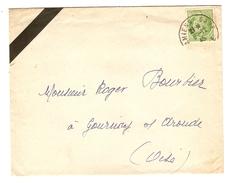 Y & T CERES DE MAZELIN N° 675 SEUL SUR LETTRE AMIENS 8/12/1945 POUR GOURNAY SUR ARONDE - 2 Scans - Marcophilie (Lettres)