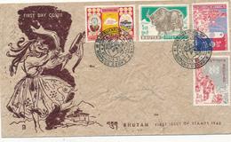 BHUTAN - 1962 , FDC  - Big Letter, Dispatch = 4,50 EURO (normal Mail) - Bhutan