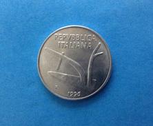 1996 ITALIA REPUBBLICA MONETA DA 10 LIRE SPIGHE FDC UNC DA ROTOLINO - 1946-… : Repubblica