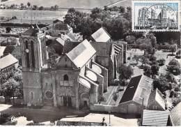 77 - CHAMPEAUX - Petit Lot De 2 CPSM CPM GF - Vue Aérienne La Collégiale ST MARTIN - Seine Marne ( Religion Catholique ) - Altri Comuni