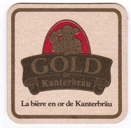 SOUS-BOCK GOLD DE KANTERBRAU LA BIERE EN OR DE MAITRE KANTER WALSHEIM CHAMPIGNEULLES LORRAINE LUTTERBACH BLONDE VILFORT - Sous-bocks