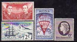 ROSS N° 5/8 XX Expédition Néo-zélandaise Transantarctique La Série Des 4 Valeurs En Nouvelle MonnaieTB - Dépendance De Ross (Nouvelle Zélande)