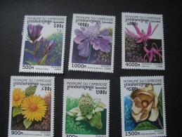 CAMBODIA 1998 FLOWER SCABIOUS GENTIAN ERYTHRONIUM MAGNOLIA - Flora