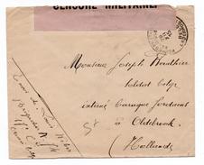 1915 - ENVELOPPE FM De BELGIQUE La HOLLANDE Avec CENSURE - Marcophilie (Lettres)