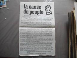 LA CAUSE DU PEUPLE JOURNAL DE FRONT POPULAIRE N°9 3 JUIN 1968 - Journaux - Quotidiens