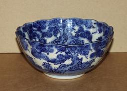 Grand Bol En Céramique Bleu Blanc Chine Japon -  Art Japanese Chinese - Art Asiatique