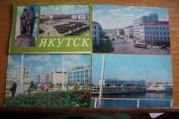 Russia. YAKUTSK City -  14 Postcards LOT - OLD USSR PC  1975 - Rusland