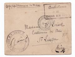 """1909 - ENVELOPPE Du CORS EXPEDITIONNAIRE DU MAROC Avec CACHET """"AMBULANCE De KASBAH BEN AHMED"""" - Storia Postale"""
