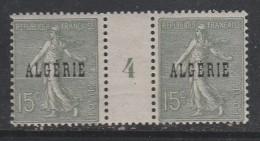 ALGERIE N° 10 15C VERT TYPE SEMEUSE LIGNEE MILLESIME 1924  NEUF SANS CHARNIERE - Algeria (1924-1962)