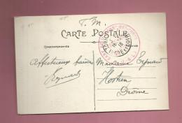 Marcophilie - Guerre 1916 Cachet Rouge Gare De St Pierre Des Corps Indre Et Loire - 37 En FM - Marcophilie (Lettres)