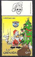 Grenada 1984 Disney -  Donald Duck - $2, MI 1340  MNH(**) - Grenada (1974-...)